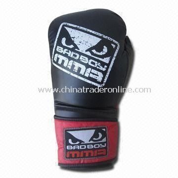 MMA Boxing Gloves, Made of Microfiber Leather, Various Sizes are Available from China