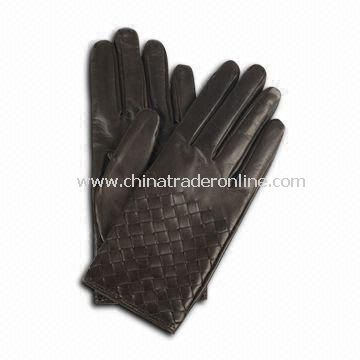 PU Leather Ladies Gloves with Cotton Lining, Various Colors and Sizes are Available