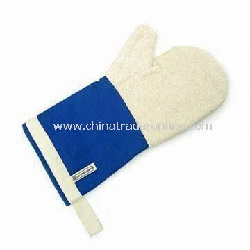 Safety Glove/Oven Mitt, Made of 100% Cotton, Various Design and Colors Available