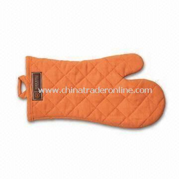 Safety Glove/Oven Mitt, Made of 100% Cotton, Various Designs and Colors Available