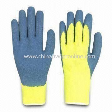 Safety Gloves, Made of Cotton, with PVC Coating, Available in S, M and L Sizes
