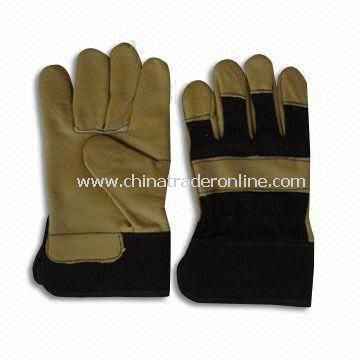 Safety Gloves, Made of Cowhide Leather, Available in Various Colors