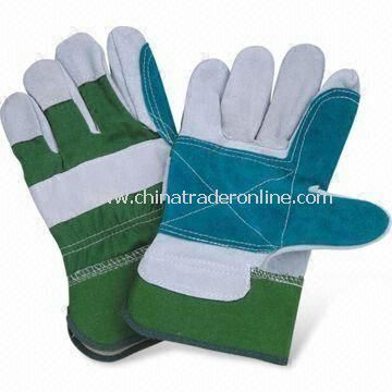 Safety Gloves, Palm, Thumb and Index Finger Reinforced, Half Lining, Rubberized Safety Cuff