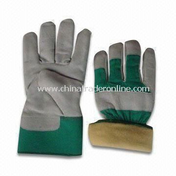 Safety Gloves with Yellow Cup, Available in Various Colors, Made of Pigskin or Leather