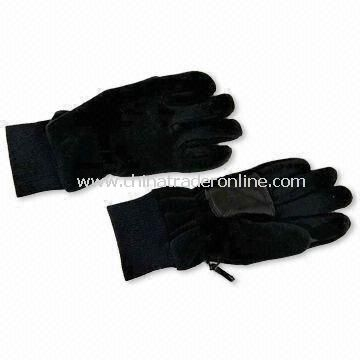 Waterproof Gloves, Made of 100% Polyester and Fleece, Available in Various Colors