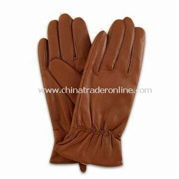 Womens and Mens Leather Gloves with Suede