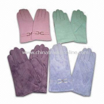 Womens and Mens Leather Gloves with Suede from China