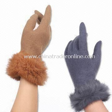 100% Acrylic Knitted Gloves, Customized Designs are Accepted, Also Available in Wool/Cotton