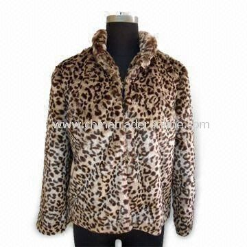 Fake Fur Coat with Hooks on Front, Suitable for Ladies