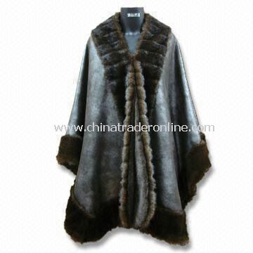 Faux Fur Coat, Made of 100% Polyester, Available in Black