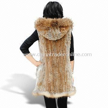 Handmade Woven Fur Garment, Suitable for Women