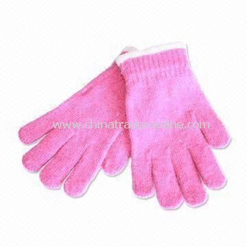 Knitted Glove for Women, with Nice Hand Feel, Made of Acrylic, Customized Designs are Accepted