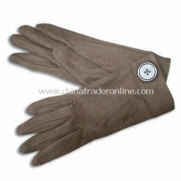 Knitted Gloves, Customized Designs are Accepted, Made of 100% Acrylic, Available in Wool/Cotton