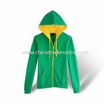 Mens Top Coat, Made of 100% Cotton, Front Fly Closed with Zippers from China