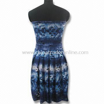 Sheath Dress, Made of 100% Polyester, Suitable for Ladies