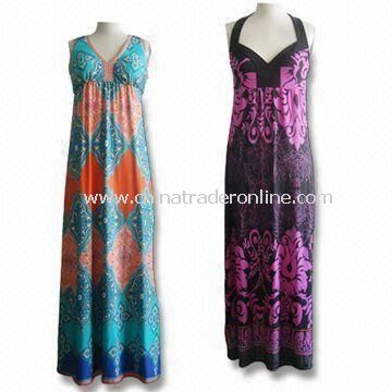 Shift Dresses, Customized Designs are Accepted, Made of 96% Polyester and 4% Spandex from China