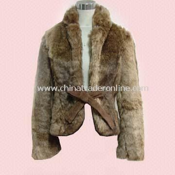 Womens Fur Jacket in Combination Fabric from China