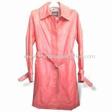 Womens Genuine Lamb Skin Coat with Polyester Lining, Various Colors are Available from China