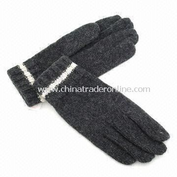 Womens Knitted Gloves, Made of Acrylic, with Jacquard Weave, Customized Designs are Accepted