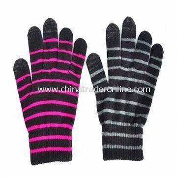 Womens Knitted Gloves with Nice Hand Feel, Made of Acrylic, Customized Designs are Accepted