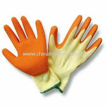 10-inch Latex Gloves, Available in Orange