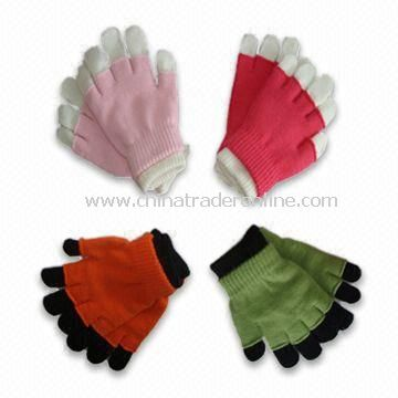 2-in-1 Magic Gloves, Made of 95% Acrylic and 5% Elastane