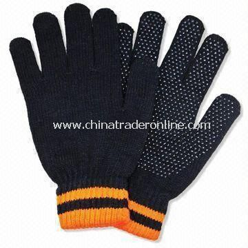 Acrylic Knitted Gloves without Embroidery, Suitable for Winter