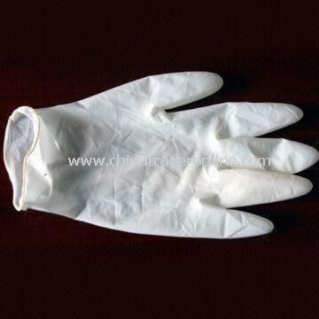 Disposable Glove, Made of 100% Nature Latex and 100 Pieces/box Packing