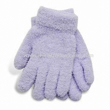 Eco-friendly Winter Gloves, Made of 100% Wool and Cotton, Customized Designs/Colors are Accepted