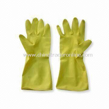 Household Gloves, Made of Nature Latex with Size of S, M, L and XL