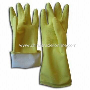 Household Latex Gloves, Measures 30cm, Available in Yellow