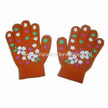 Kids Magic Gloves with Prints, 15cm Length, Various Colors are Available