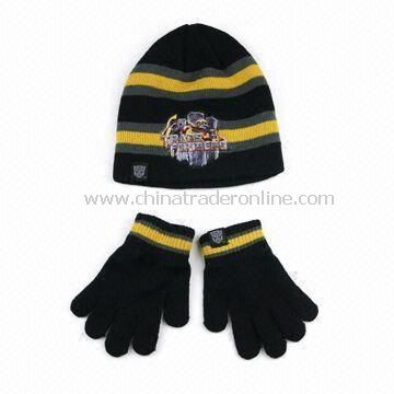 Knitted Hat with Magic Gloves, Suitable for Promotional Purposes, Made of 100% Acrylic