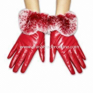 Ladys Gloves in S/M/L Sizes, Various Colors are Available, Made of Real/PU Leather
