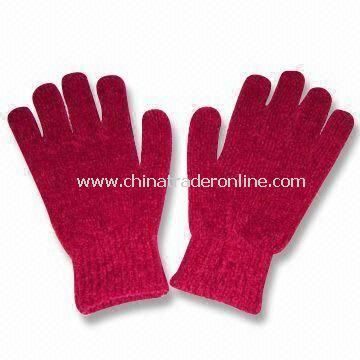 Magic Gloves, Made of Chenille, Customized Colors and Designs are Accepted