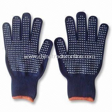 Magic Gloves with Grips and Logo Label on Face, Made of 100% Acrylic