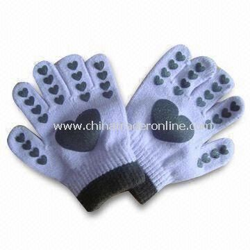 Magic Gloves with Print Logo, Made of 100% Acrylic, Customized Colors and Designs are Accepted