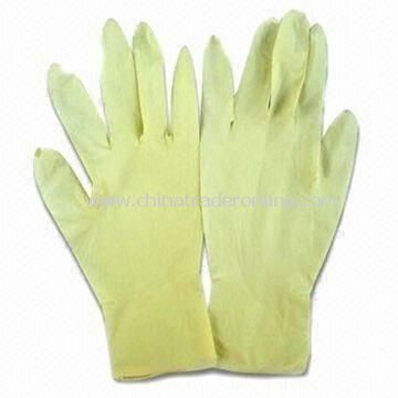 Medical Latex Gloves with Wet and Dry Grip, Available in Various Standards