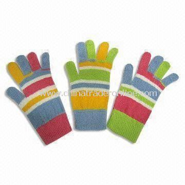 Suede Magic Gloves, Made of Nylon, Polyester and Spandex