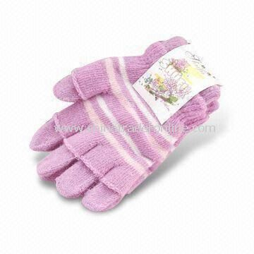 Winter Gloves, Made of 100% Cotton, Colors and Designs can be Customized