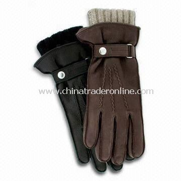 Winter Gloves, Made of 100% Wool and Cotton, Customized Colors are Accepted