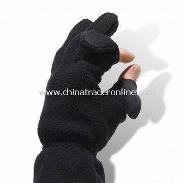 Winter Gloves, Made of 100% Wool and Cotton, Customized Designs are Accepted