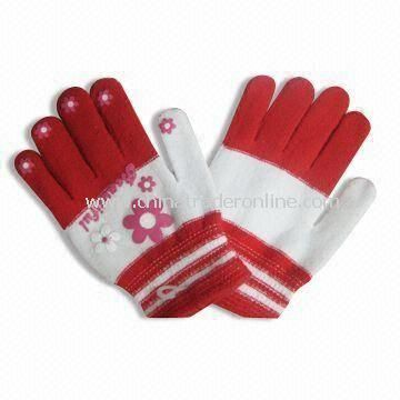 Womens Winter Gloves, Eco-friendly and Customized Colors are Accepted
