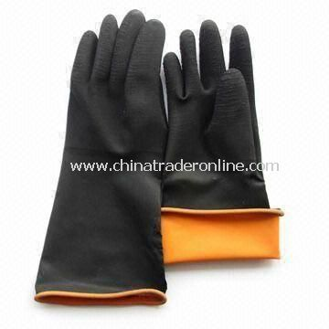 Working Gloves, Made of Latex, Waterproof, Available in Various Sizes