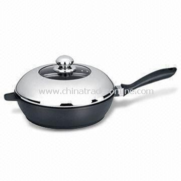 24cm Cookware Deep Frying Pan, Environment-friendly, Made of Die-cast Aluminum