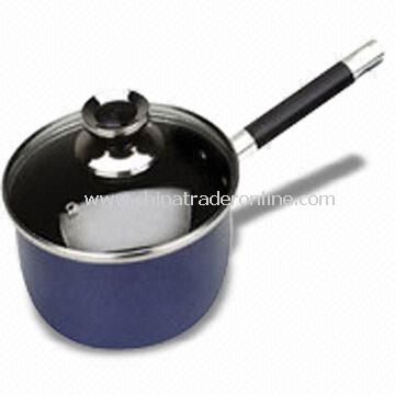 Aluminum Milk Boiler/Saucepan, High Temperature Lacquer Outer, 2.0 to 3.5mm of Thickness