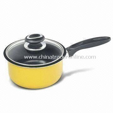 Aluminum Saucepan with 2.5 and 3.0mm Thickness and High Temperature Painting Outside