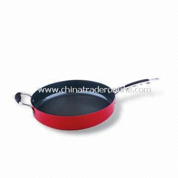Aluminum Wok/Sautepan, 2.0 to 3.5mm of Thickness, Suitable for Gas and Electric