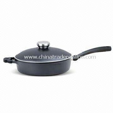 Deep Saute Pan with Bakelite Handle and 3.5L Capacity, Suitable for Oven