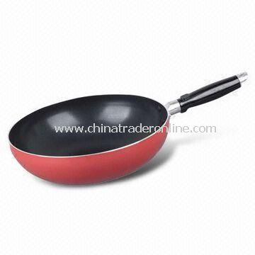 Marble Painting Saute Pan/Wok, Made of Aluminum Alloy, Suitable for Kitchen